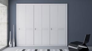 Puertas abatibles lacadas con rebaje horizontal