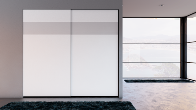puertas correderas ocultas lacadas sin estructura y cristal enrasado