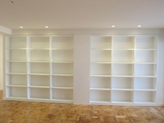 Libreria lacado blanco.